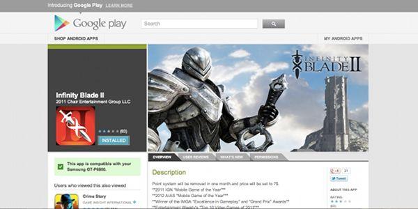 Infinite Blade II Untuk Android Telah Tersedia  Wait    WHAT!!?