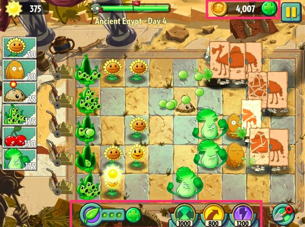 Plants vs Zombies IAP | Screenshot 1