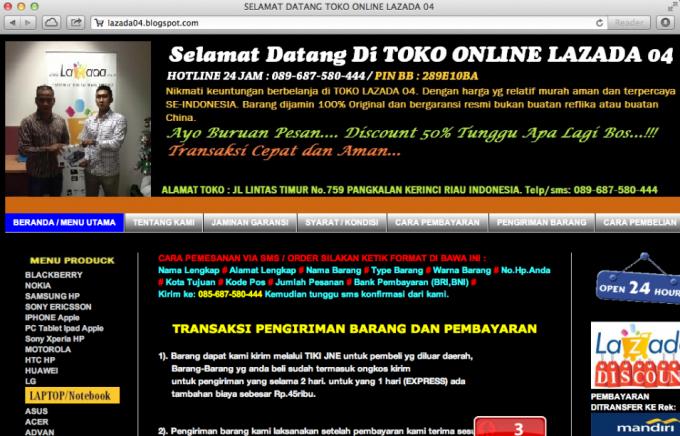 Lazada-scam-website-680x436. Hari ini saya menerima SMS yang mengaku  berasal dari toko ... 0ed315253e