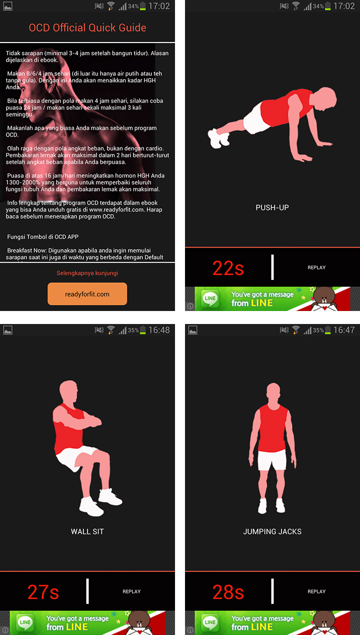 Inilah aplikasi Android program diet OCD Deddy Corbuzier