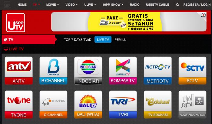 5 website dan aplikasi gratis untuk streaming tv online di indonesia.