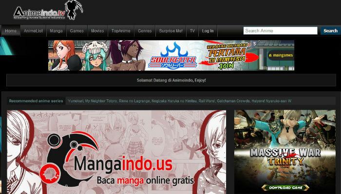 AnimeIndo tv dan 4 website streaming anime di Indonesia