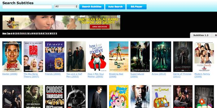 Daftar website untuk download subtitle film gratis