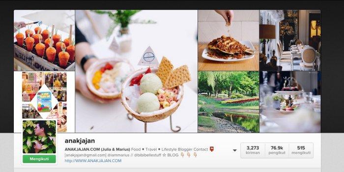 Daftar akun Instagram food blogger Indonesia terpopuler