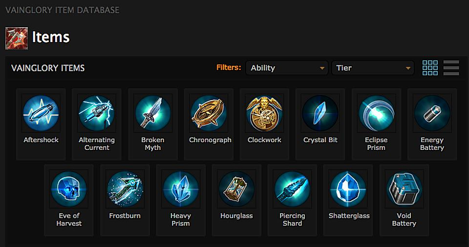 Vainglory Ability Items | Screenshot