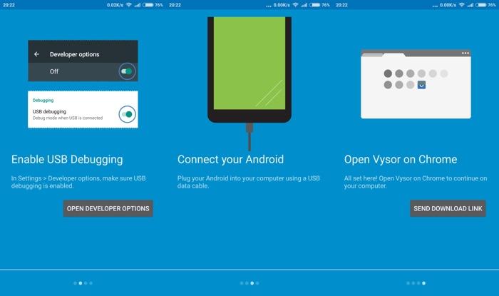 Kontrol smartphone Android kamu melalui komputer dengan Vysor