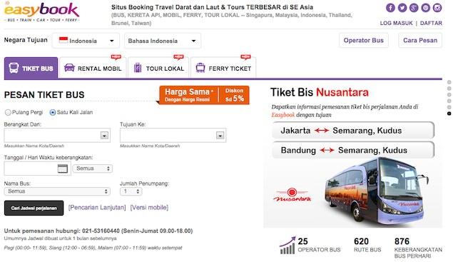 Update Kumpulan Situs Booking Tiket Bus Online Di Indonesia