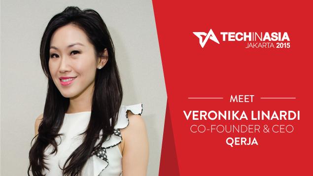 CEO Qerja Veronika Linardi di Tech in Asia Jakarta 2015