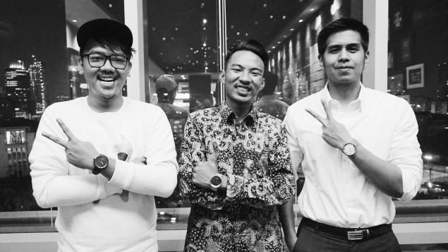 Founder NAM, dari kiri ke kanan: Ferzy Ferlian, Akbari Faisal, dan M. Audi Vialdo. Ketiganya bertemu saat berkuliah di Fakultas Ekonomi Universitas Indonesia.