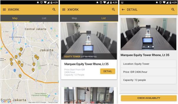 screenshot aplikasi xwork