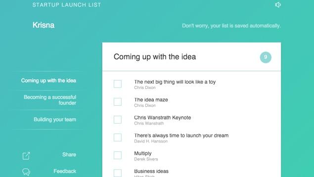 Startup Launch List