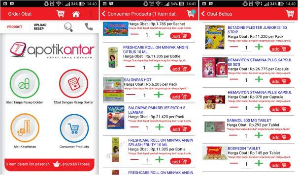screenshot aplikasi apotikantar