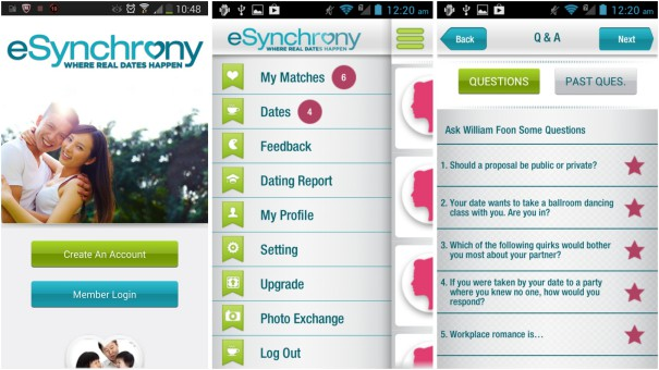 screenshot aplikasi esynchrony