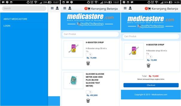 screenshot aplikasi medicastore
