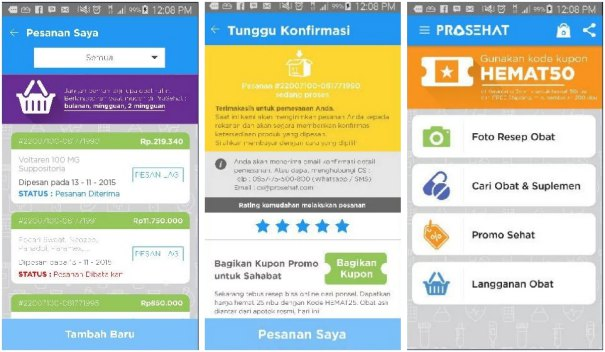 screenshot aplikasi prosehat