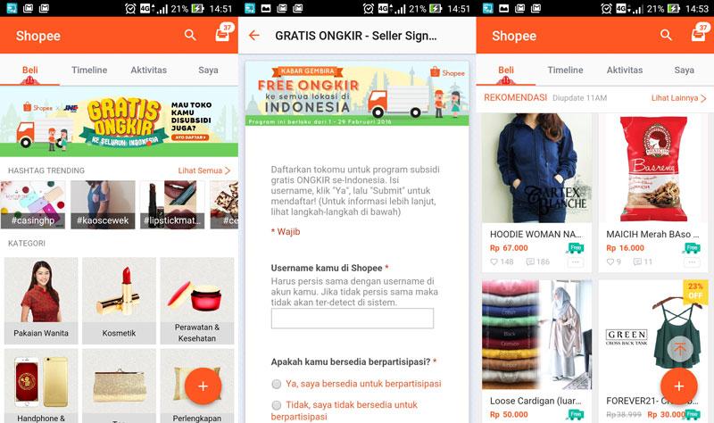 4 E-Commerce Indonesia dengan Fokus Aplikasi Smartphone