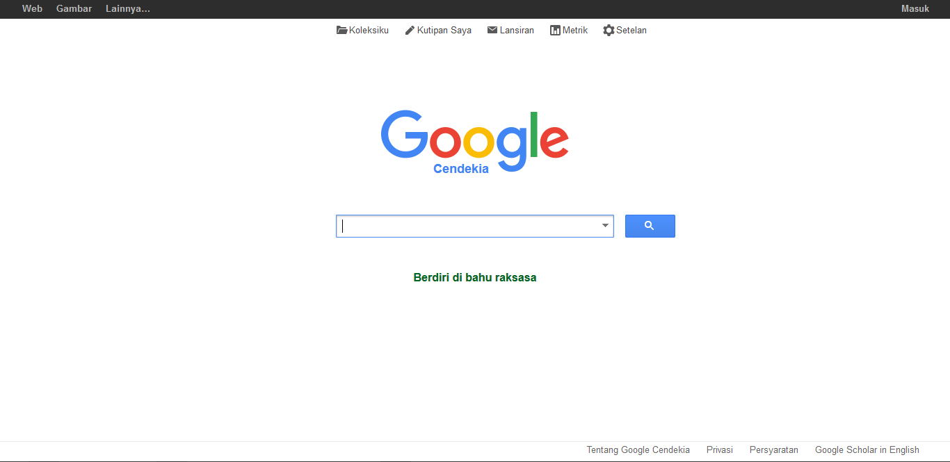 Google Scholar - Screenshot