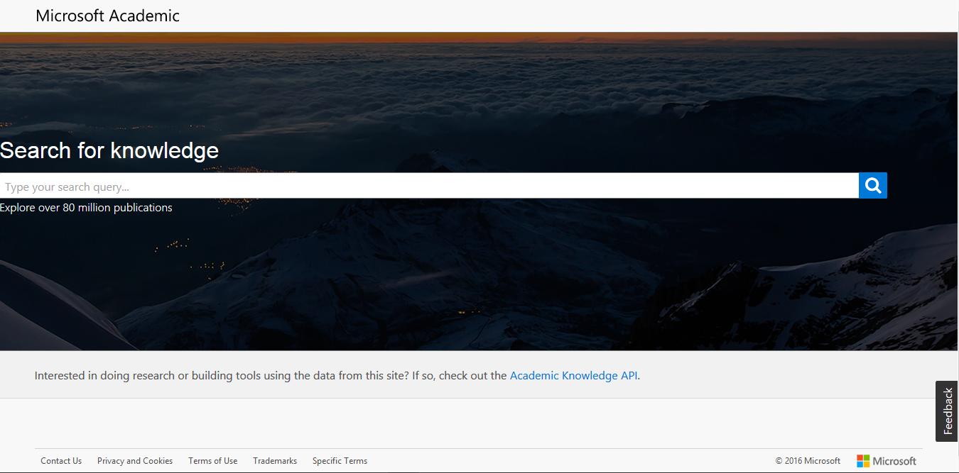 Microsoft Academic - Screenshot