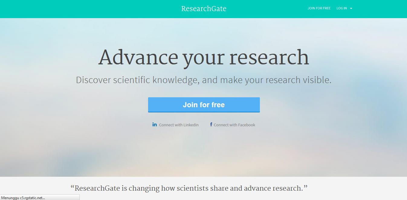 Research Gate - Screenshot