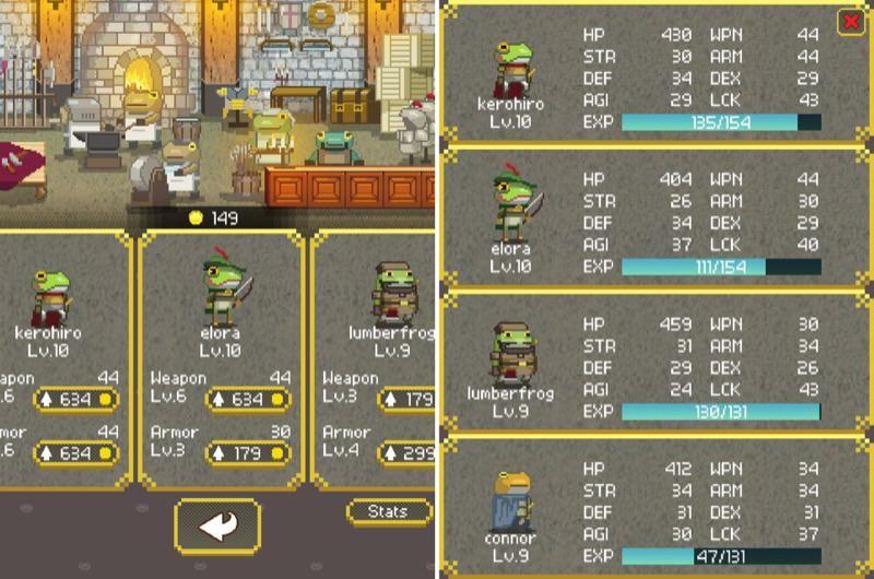 Kerohiro the Flag Bearer Characters | Screenshot