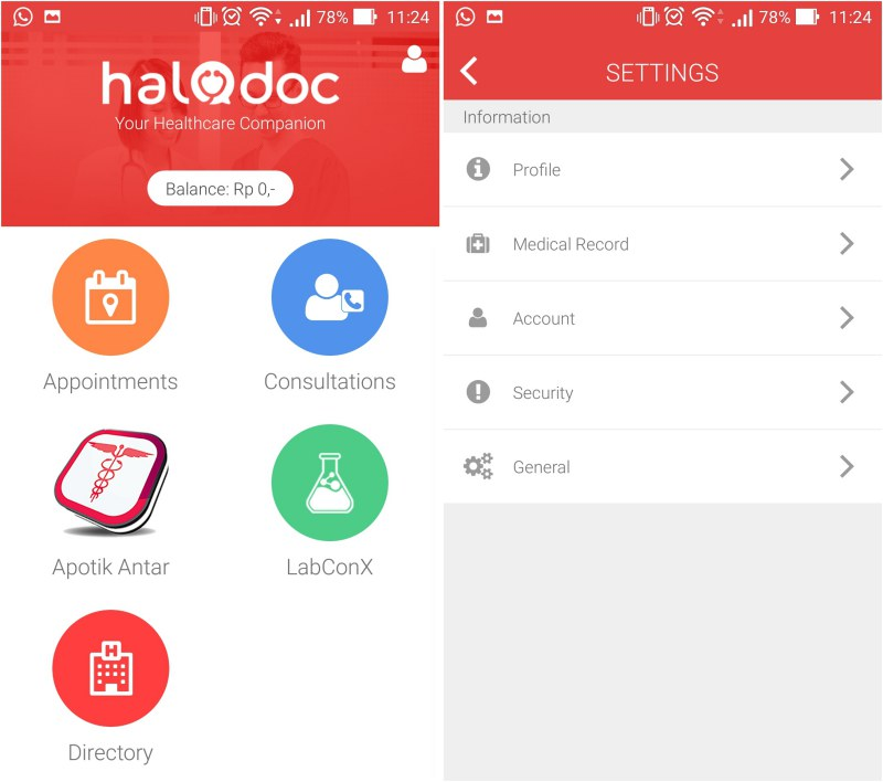 screenshot aplikasi halodoc 1
