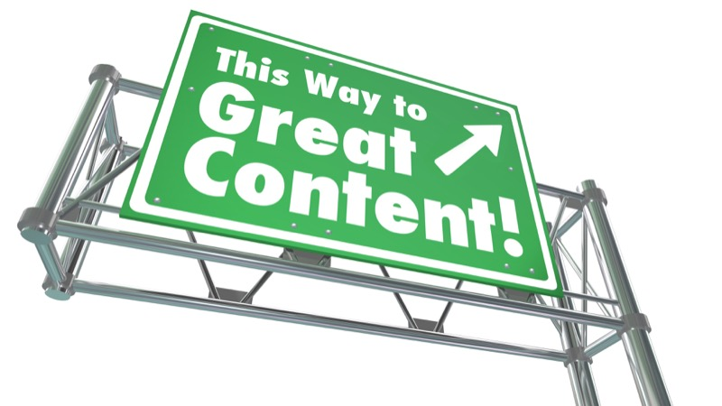 Great Content Sign | Image