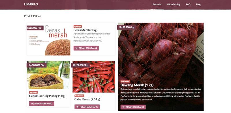 Aplikasi pertanian | situs Limakilo