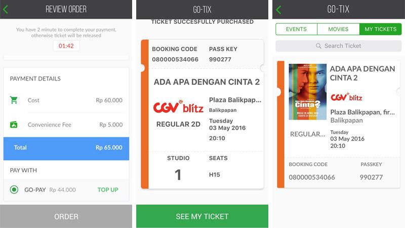 Go Jek Sediakan Layanan Pembelian Tiket Bioskop