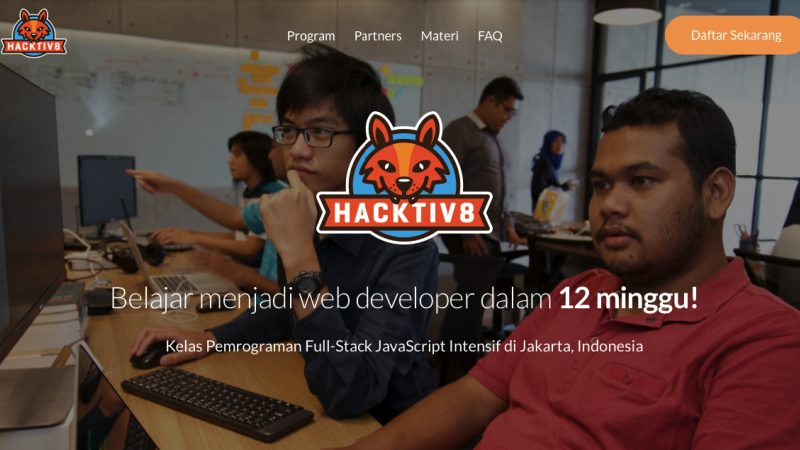 Hacktiv8 Kursus JavaScript | Screenshot