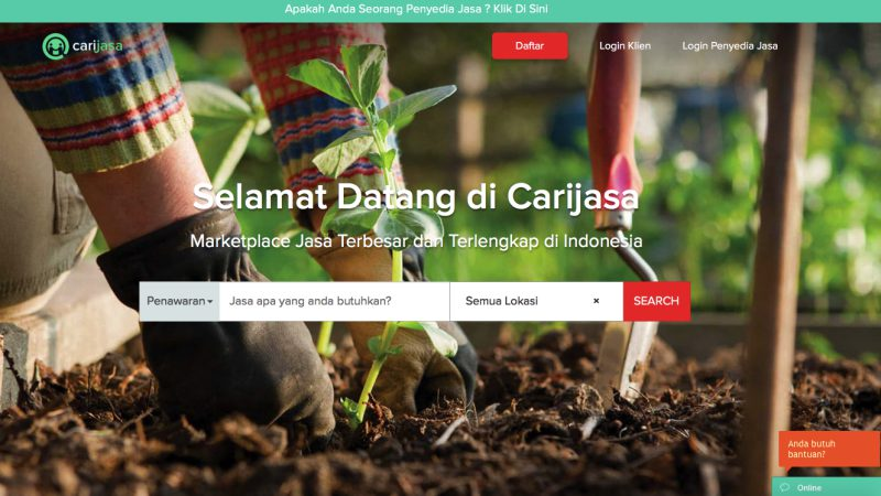 Marketplace Jasa Carijasa | Screenshot