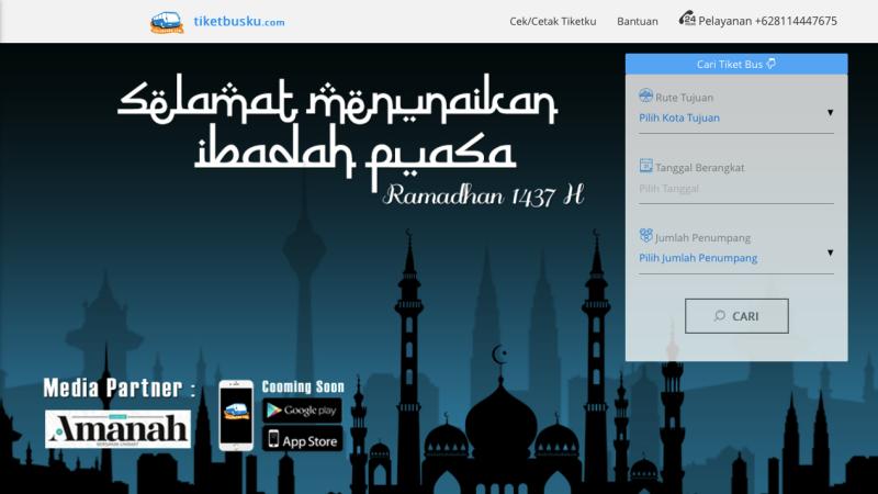Tampilan Situs Tiketbusku | Screenshot