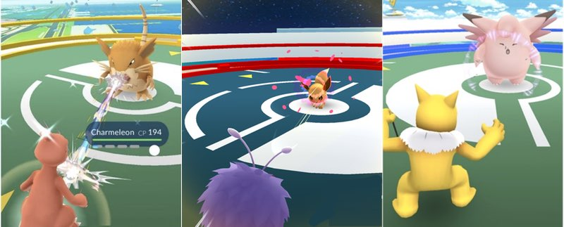 Pokemon GO Fighting Screenshot