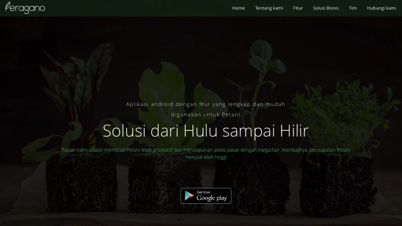 Tampilan Situs Eragano | Screenshot