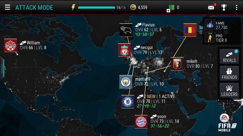 FIFA Mobile Attack Mode | Screenshot