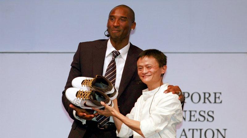 Kobe Bryant Jack Ma   Photo