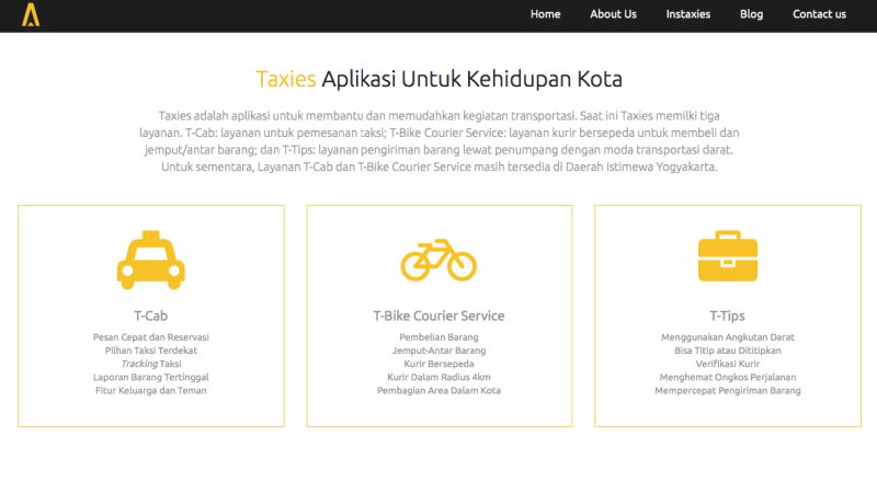 Taxies Indonesia Situs | Screenshot