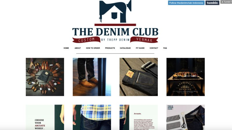 The Denim Club Situs | Screenshot