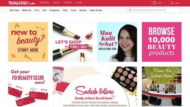 FemaleDaily Situs | Screenshot