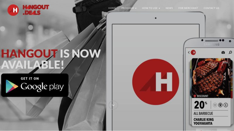 Hangout Deals Tampilan Situs | Screenshot