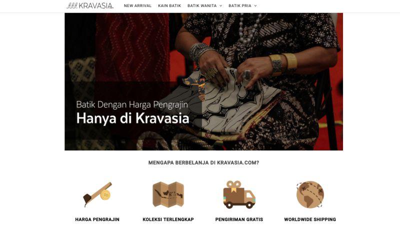 Kravasia marketplace batik | screenshot 2