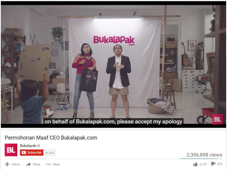kampanye bukalapak | screenshot