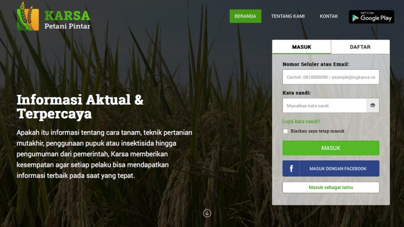 Aplikasi pertanian | Karsa