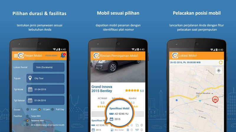 DOcar Aplikasi Mobile | Screenshot