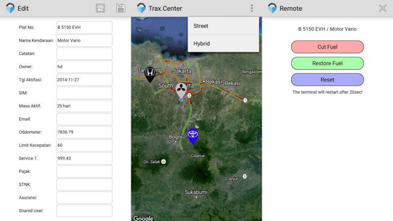 Trax Center Aplikasi   Screenshot