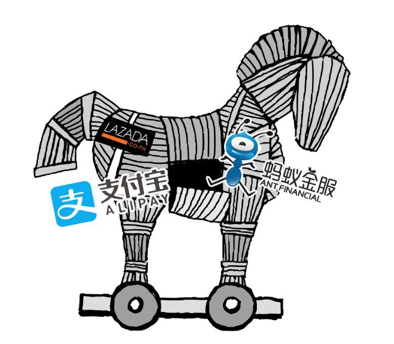 kuda troya alibaba   ilustrasi