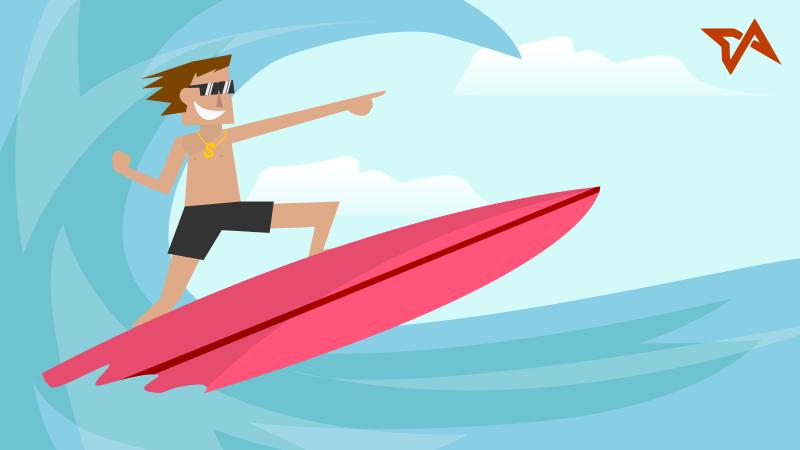 Surfing | ilustrasi