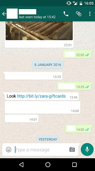 scam di whatsapp | screenshot