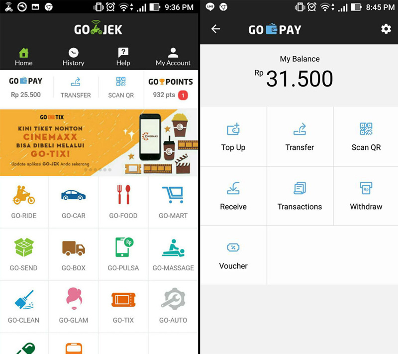 GO-PAY Transfer | Screenshot