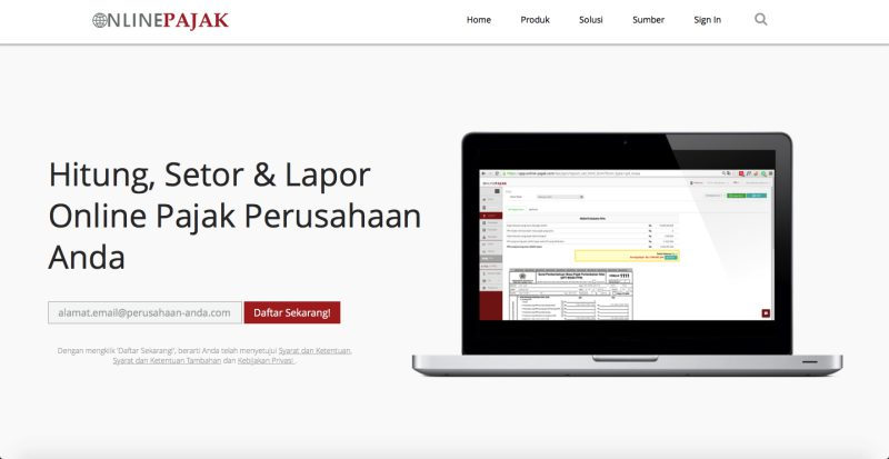 OnlinePajak | Screenshot