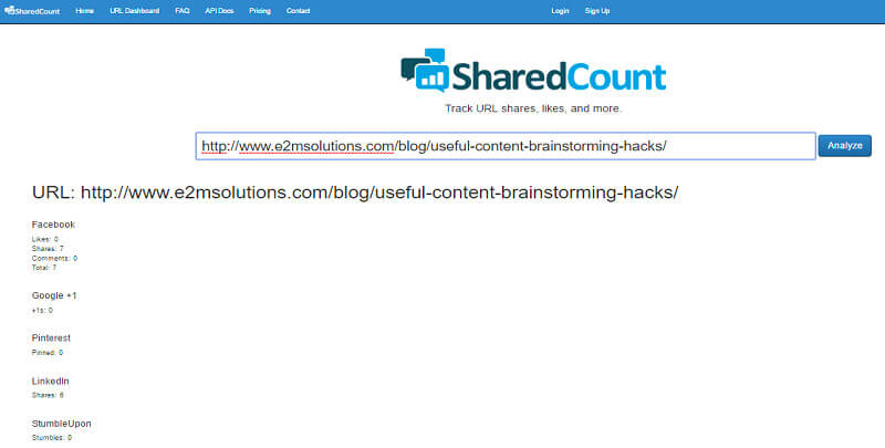 PR Campaign | SharedCount 1